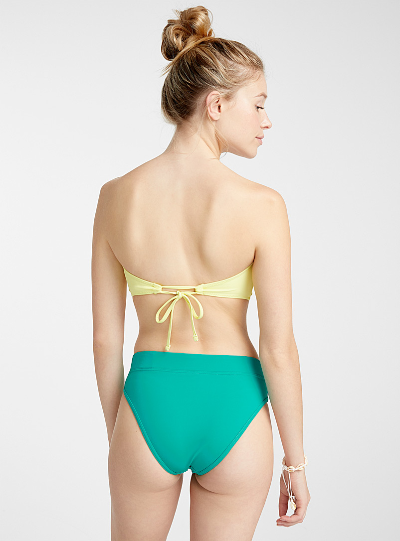 Simons White Tie-back textured bandeau for women