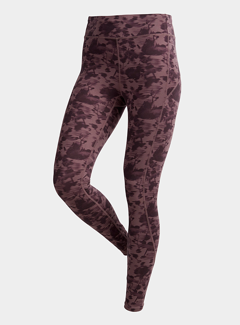 I.FIV5 Patterned Black Sierra legging for women