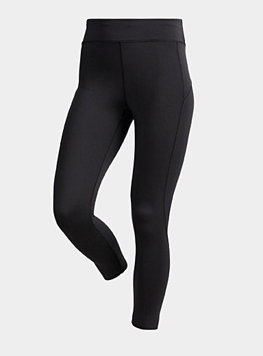 Recycled accent seam cropped legging