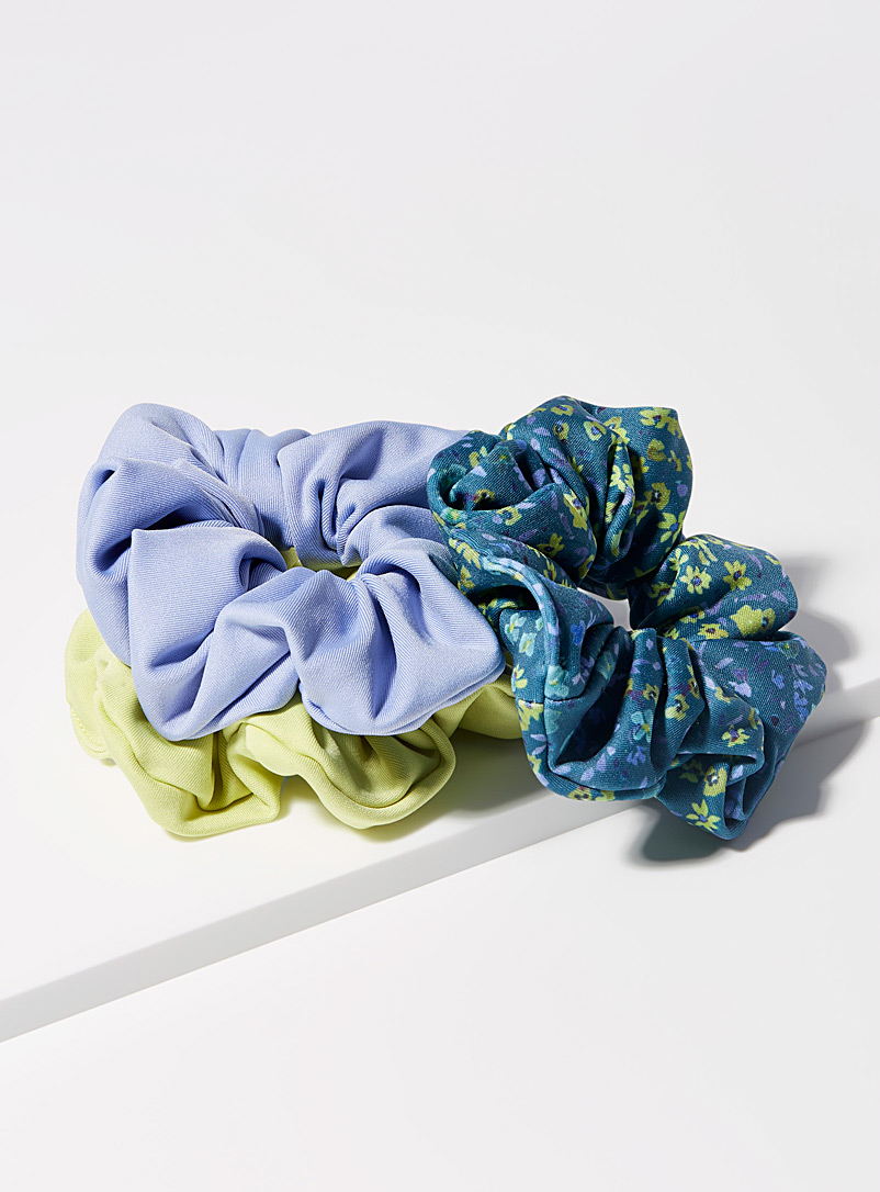 I.FIV5 Assorted Recycled scrunchie Set of 3 for women