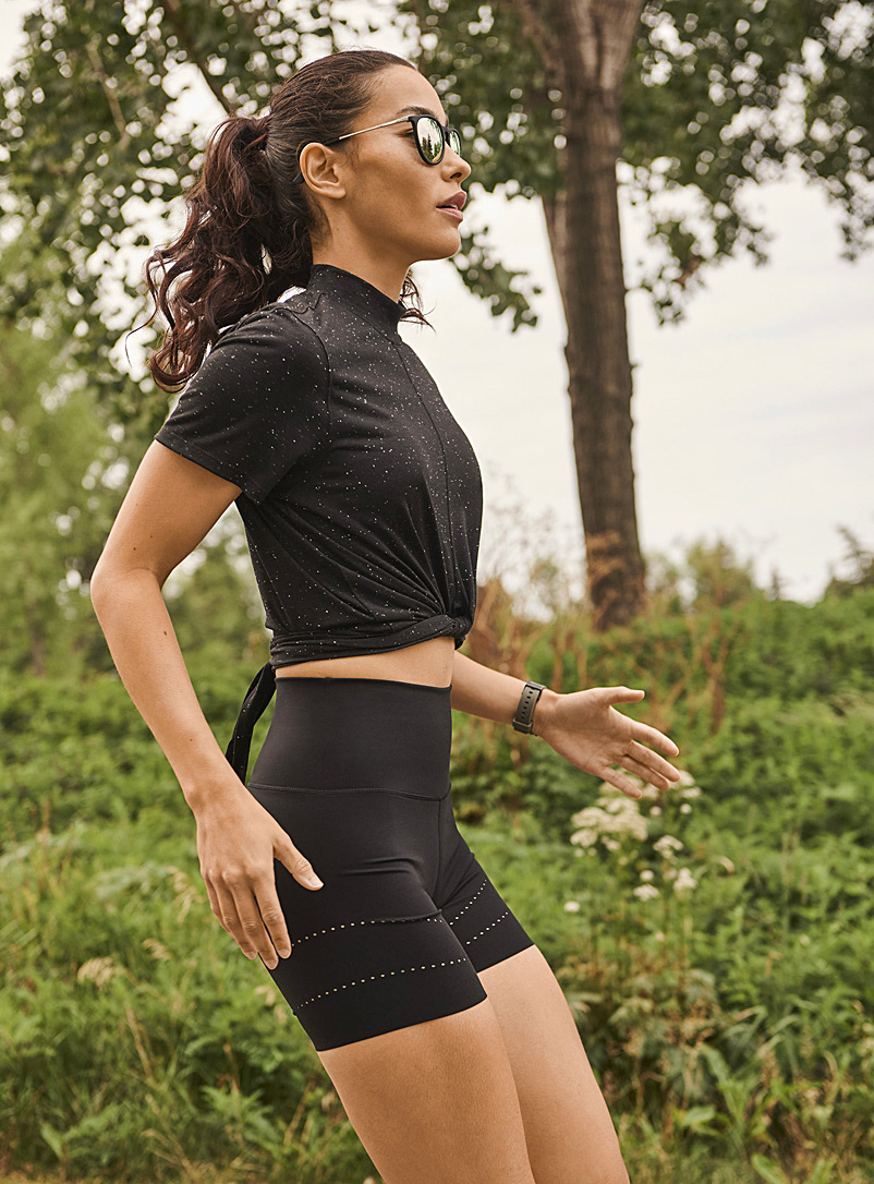 I.FIV5 Black Laser dotwork cycling short for women