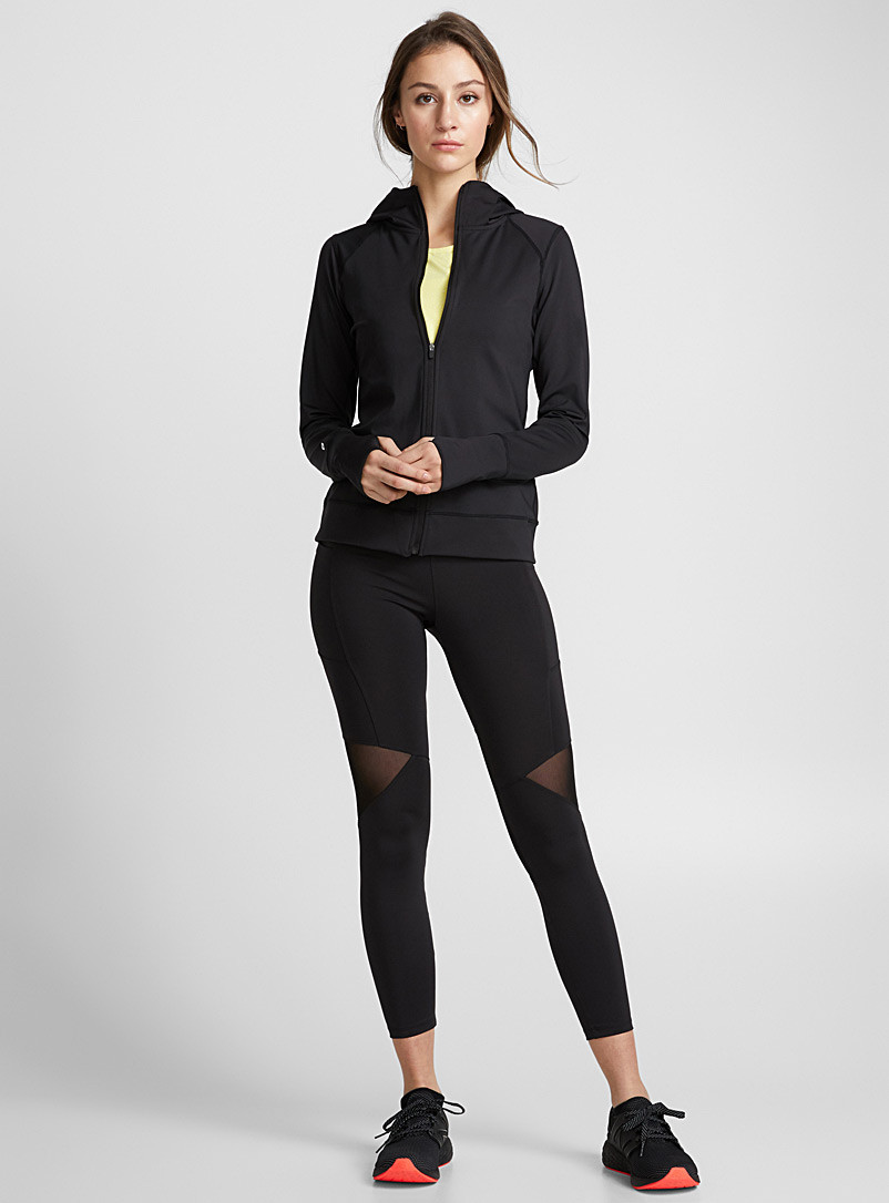 Mesh-insert legging - Yoga - Black