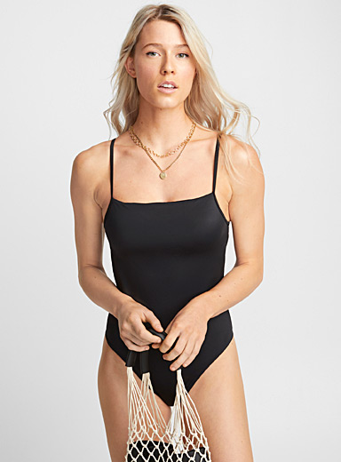 Square neck one-piece