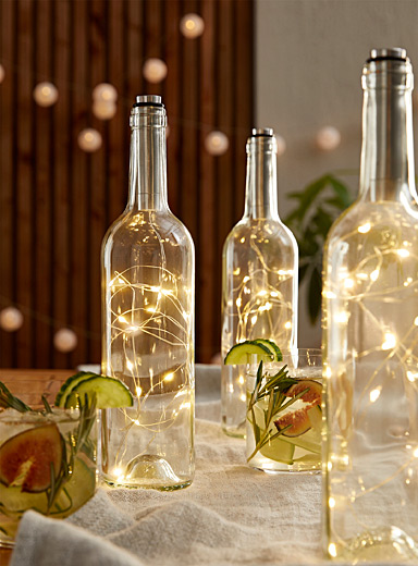 Simons Maison Transparent Glass bottle lantern