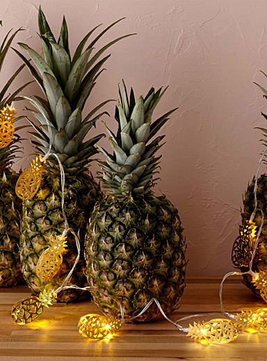 Golden pineapple string lights