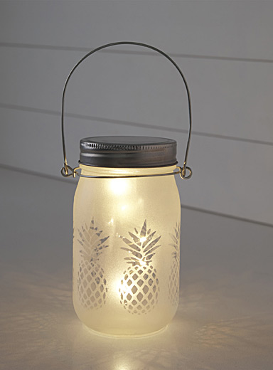 Pineapple cocktail jar lantern