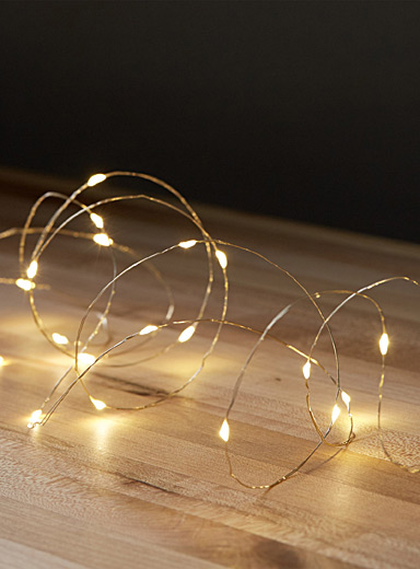 Radiant silver string lights