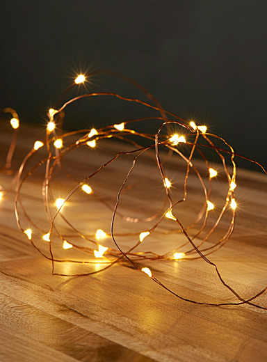 Radiant rose gold string lights