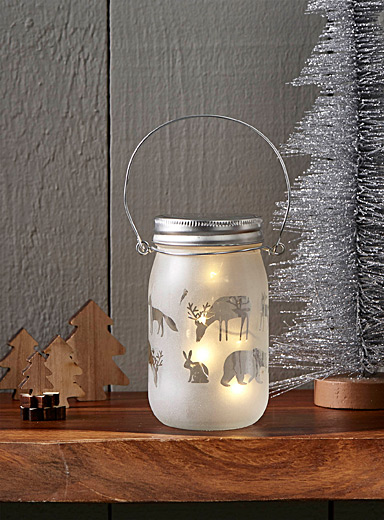 Forest animals jar lantern