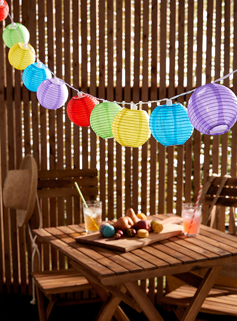 Simons Maison Assorted Colourful globes of light garland