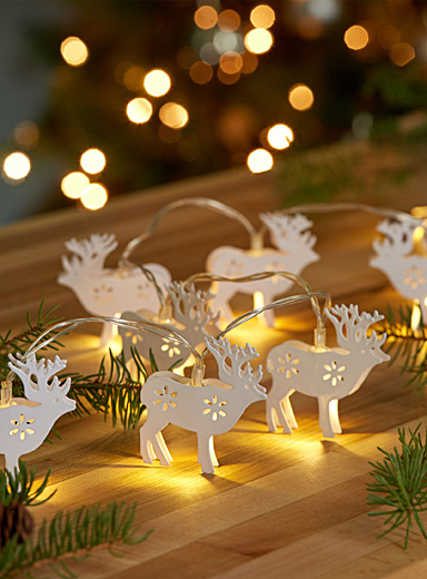White deer string lights