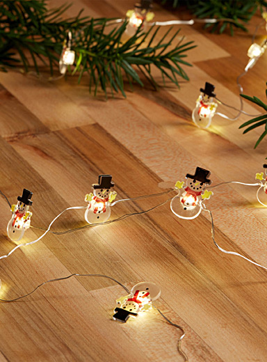 Snowmen string lights