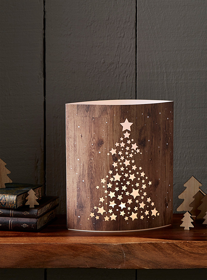 Simons Maison Light Brown Starry tree paper lantern