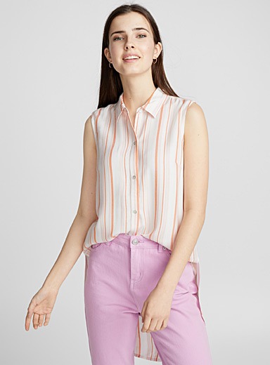 Sleeveless rayon shirt