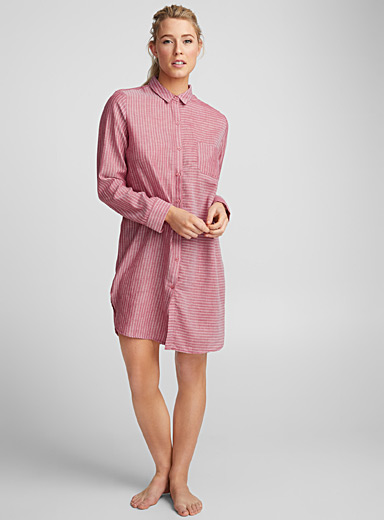 Two-way stripe nightshirt