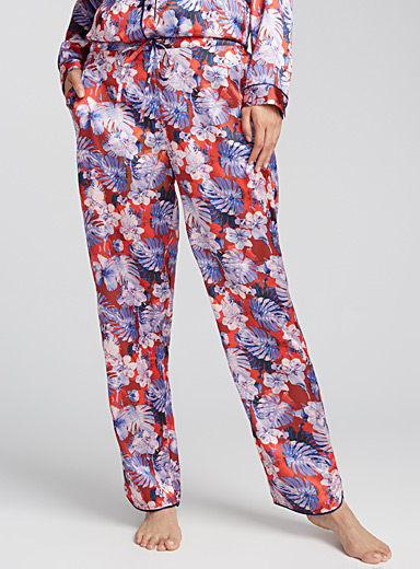 Printed satin loose pant