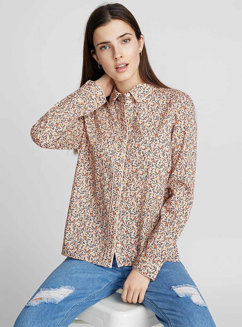 Floral touch pyjama shirt - Shirts - Assorted