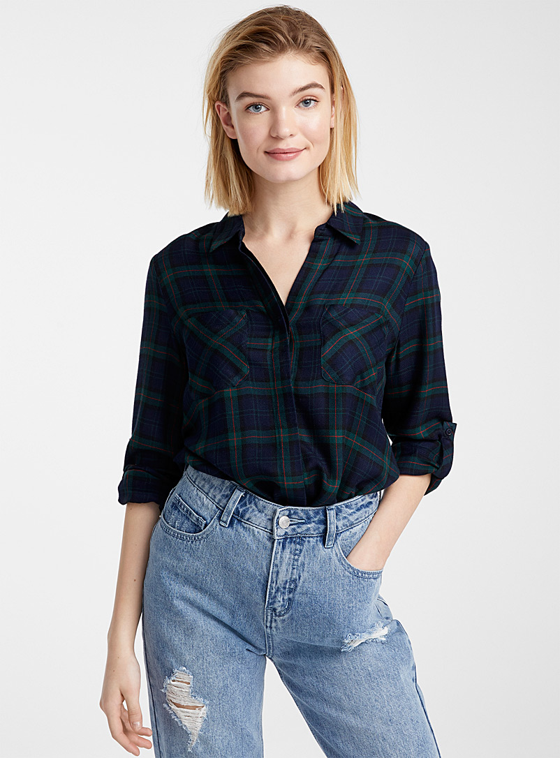 Graphic patterned shirt - Shirts - Patterned White
