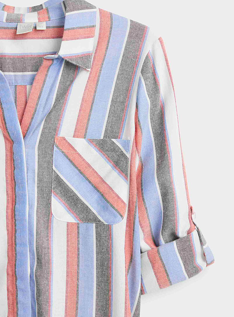 Twik Blue Graphic patterned shirt for women