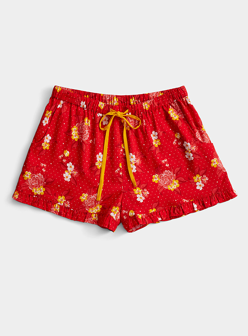 Miiyu x Twik Patterned Red Hawaiian palette boxer for women