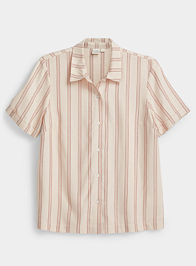 Accent stripe shirt