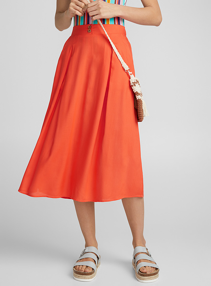 Rumba skirt - Midi - Medium Orange