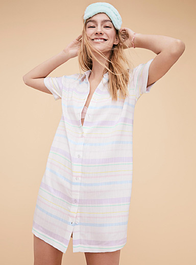 Faded stripe nightshirt