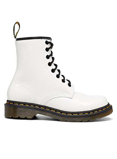 White 1460 lace-up boots Women