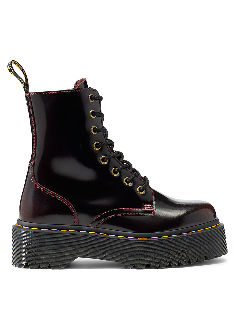 Dr. Martens Ruby Red Jadon platform lace-up boots for women