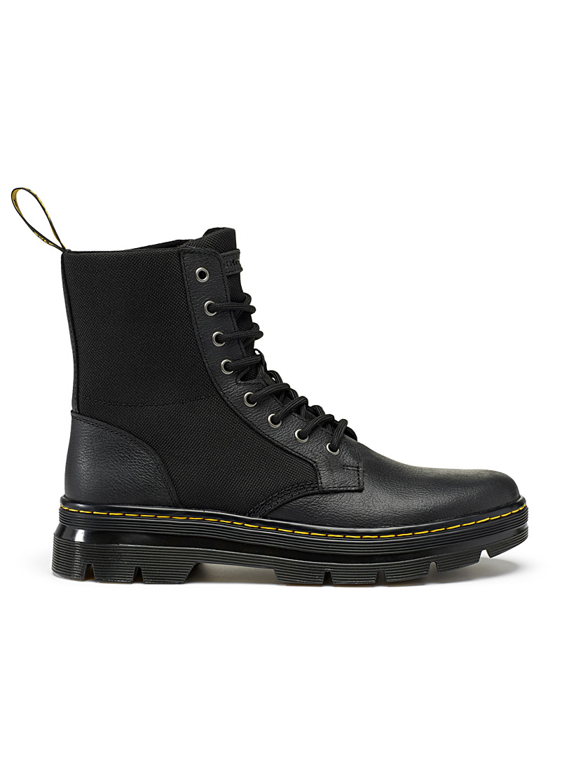 Combs II leather and nylon boots - Boots - Black