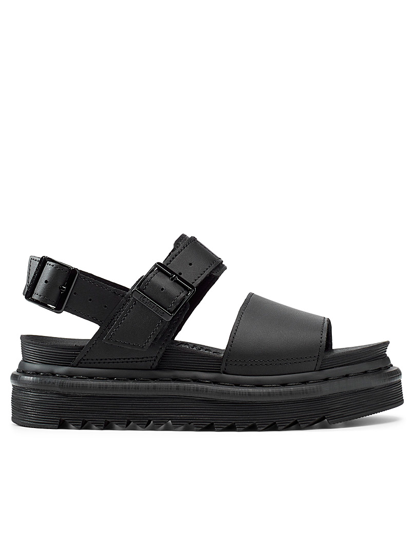 Dr. Martens Black Voss matte sandals for women