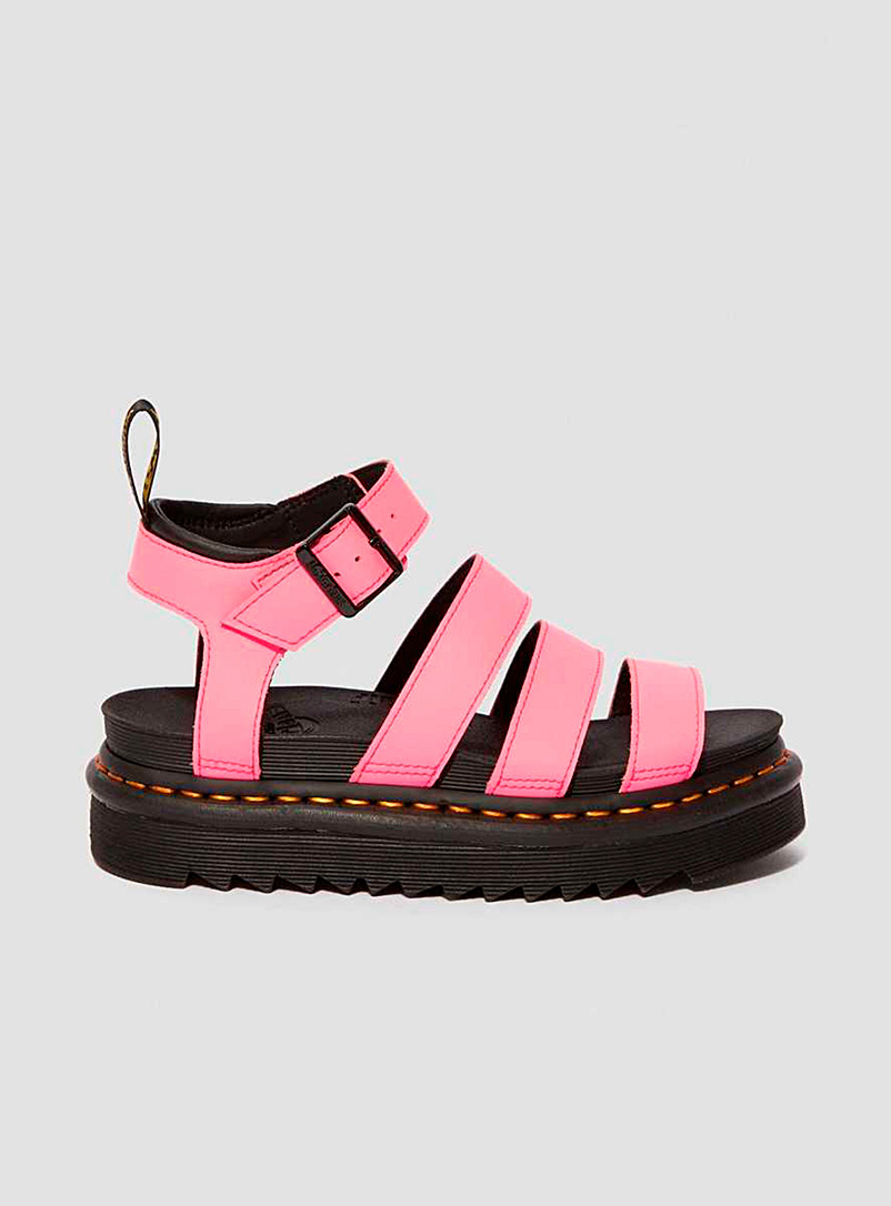 Dr. Martens Pink Blaire patent leather sandals for women