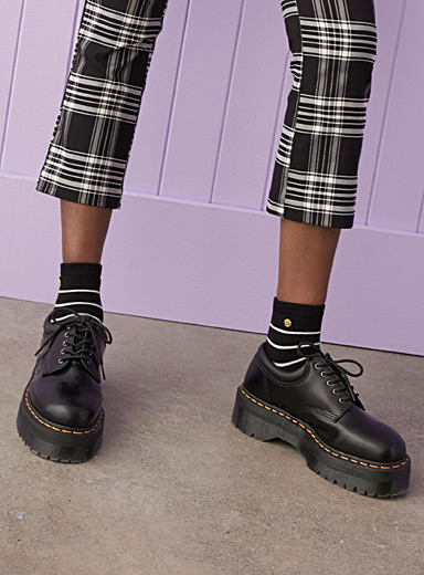 Dr. Martens Black 8053 Quad platform derby shoes  Women for women