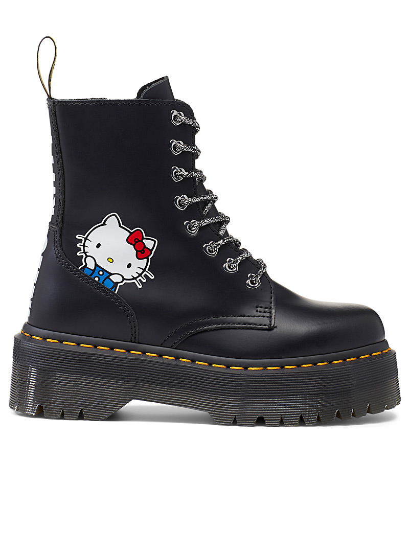 Dr. Martens Black Hello Kitty Jadon platform boots  Women for women