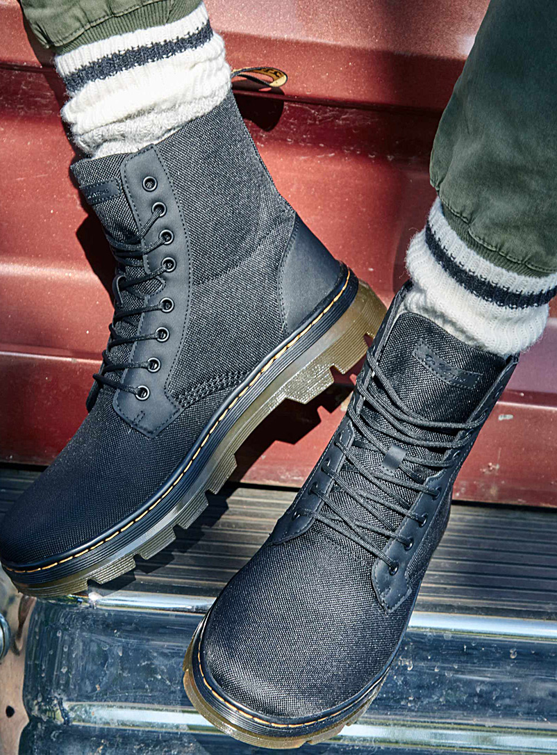 Dr. Martens Black Combs nylon boots  Men for men