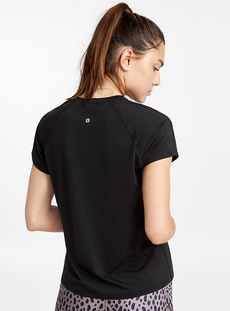 Le t-shirt ergonomique microperforé - T-shirts - Noir