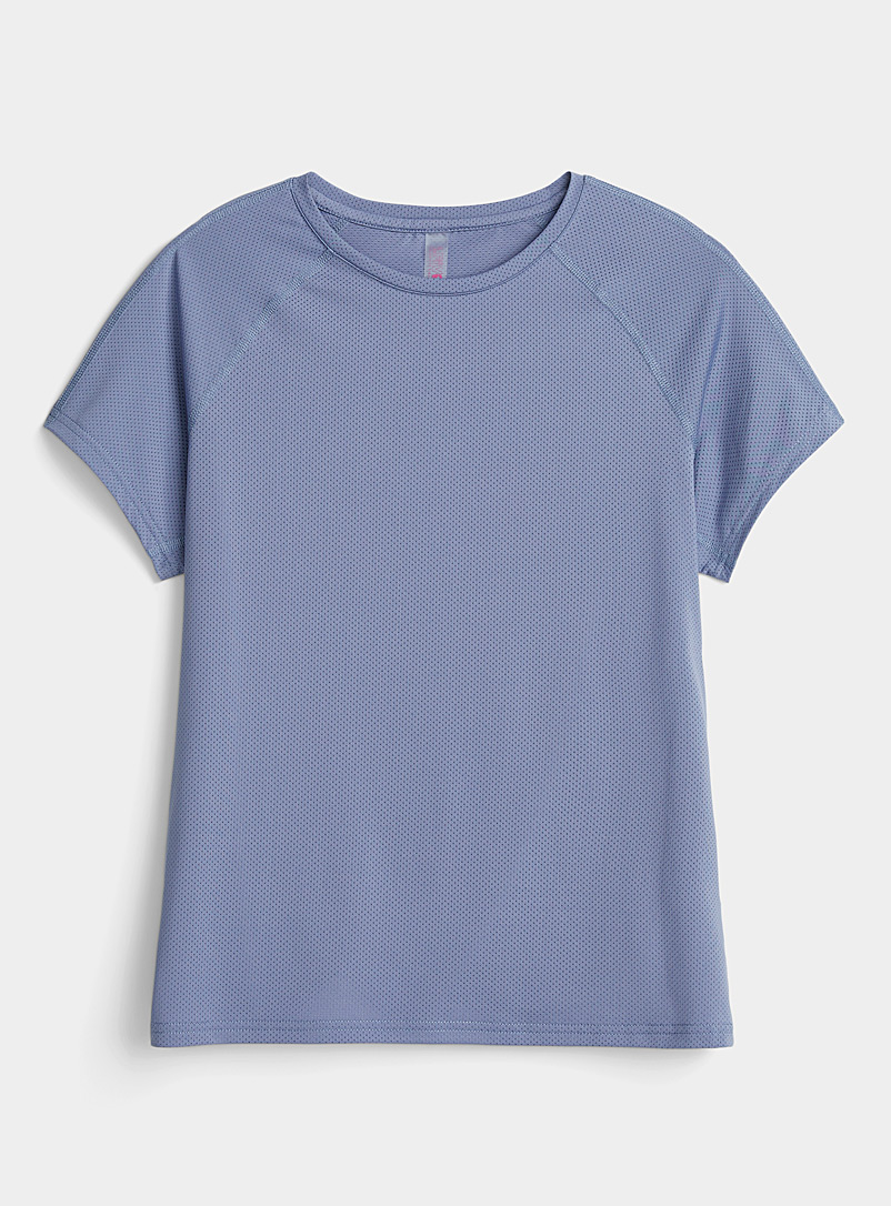 I.FIV5 Baby Blue Abies micro-perforated tee for women