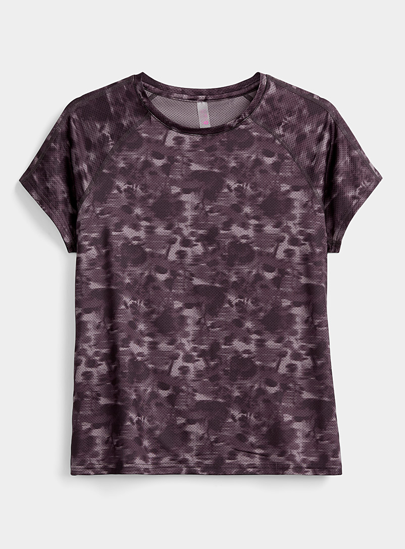 I.FIV5 Medium Crimson Abies micro-perforated tee for women