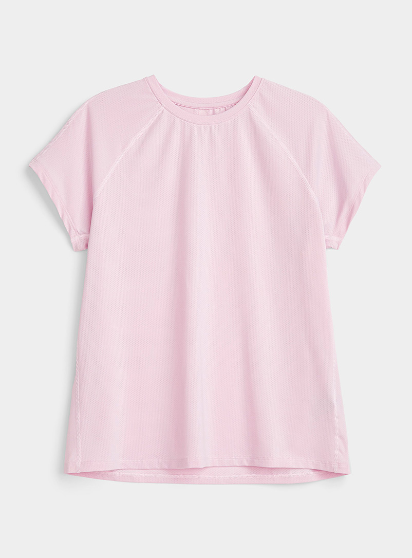 I.FIV5: Le t-shirt microperforé Abies Rose pour femme