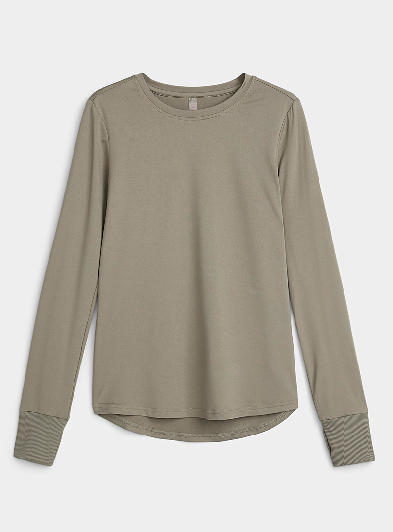 I.FIV5 Khaki Nyssa laser back T-shirt for women