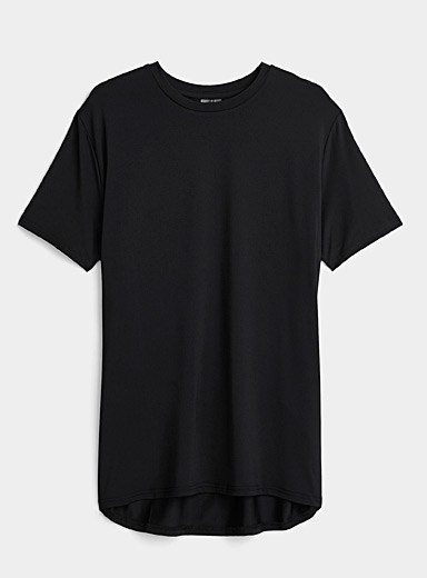 I.FIV5 Black Eco-friendly essential ultralight tee for men
