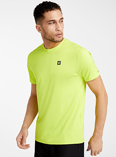 I.FIV5 Lime Green Recycled bottle basic tee for men