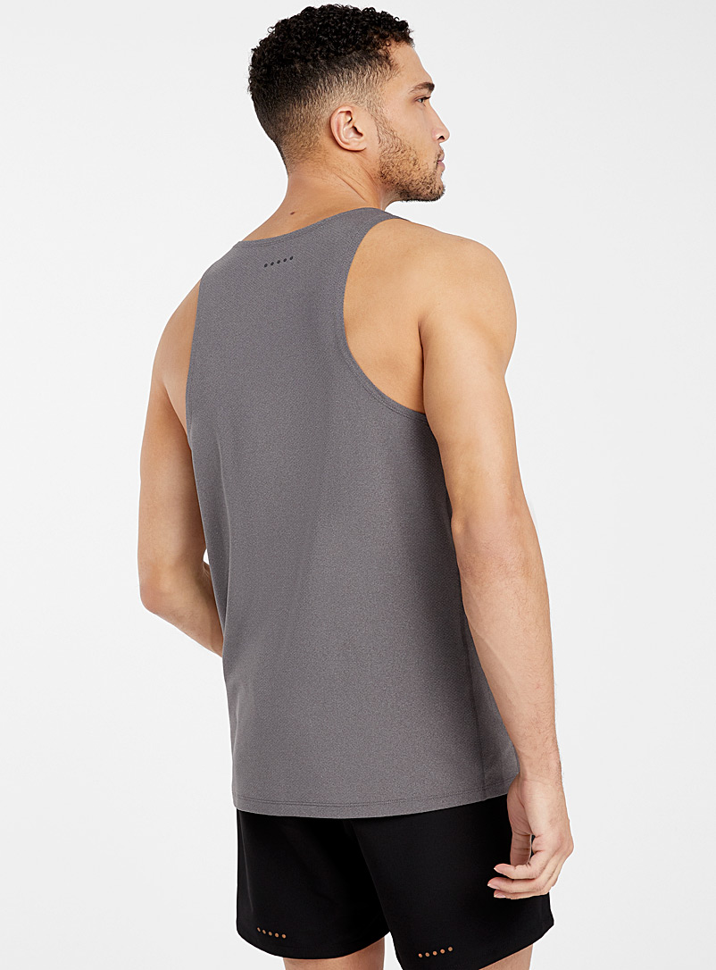 I.FIV5 Red Micro-perforated tank for men