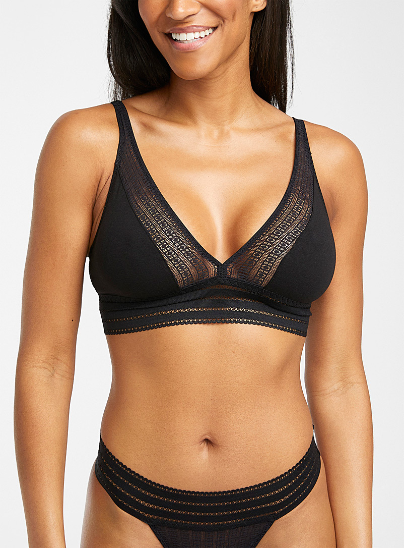 Else Black Jolie long bralette for women