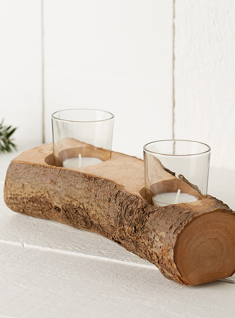 rustic-log-candle-holder