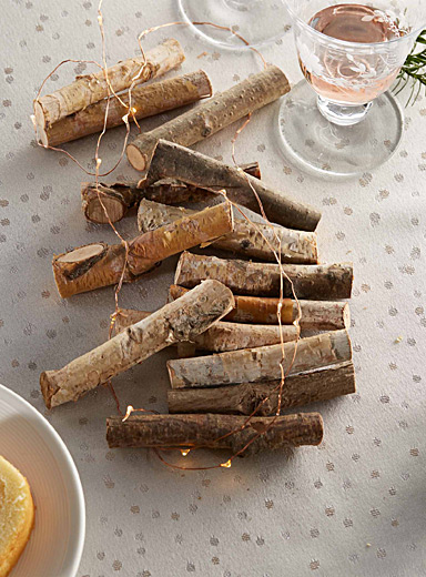 Small rustic logs  Set of 12