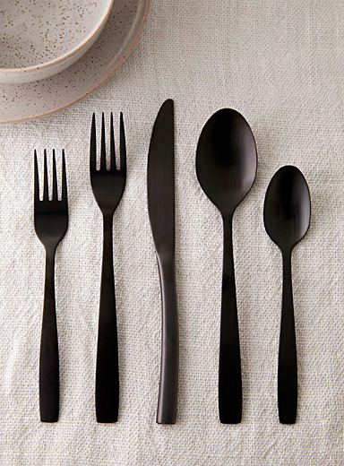 Matte black decorative utensils  Set of 5