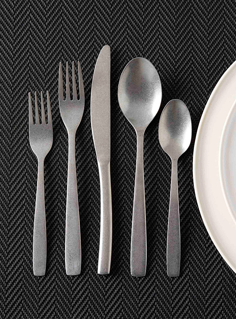 Simons Maison Assorted Brushed chrome decorative utensils  Set of 5