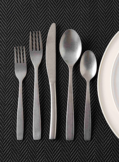 Brushed chrome decorative utensils  Set of 5