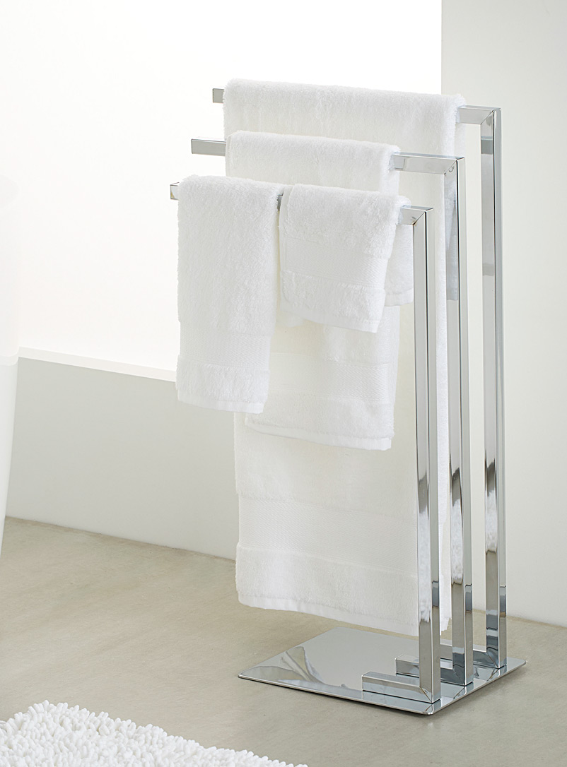 Chic chrome spa towel holder